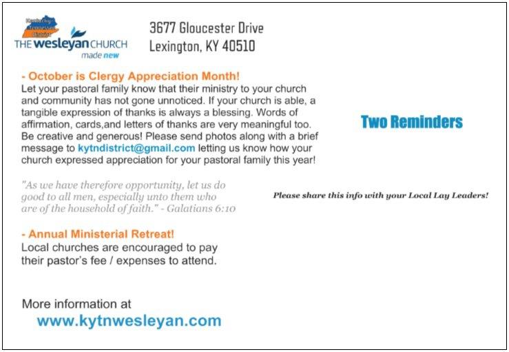 Pastor Appreciation  |  Ministerial Retreat